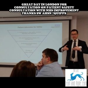 Great day in London for consultation on Patient Safety consultation with NHS Improvement thanks SW …