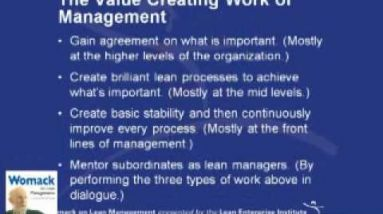 Value Creating Work by Managers
