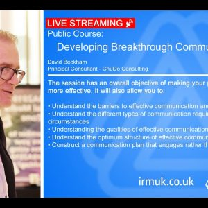 Developing Breakthrough Communication Skills 14 July 2020 - LIVE STREAMING