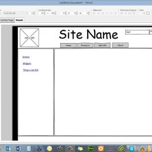 Wireframing  using pencil