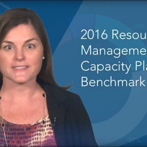 2016 Resource Management and Capacity Planning Benchmark Study