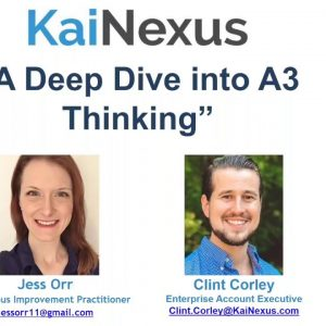 A Deep Dive into A3 Thinking (Webinar Recording)