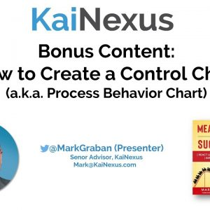 How to Create a Control Chart (Process Behavior Chart)
