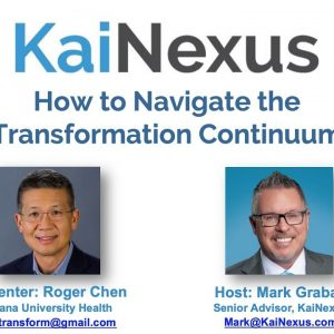 How to Navigate the Transformation Continuum
