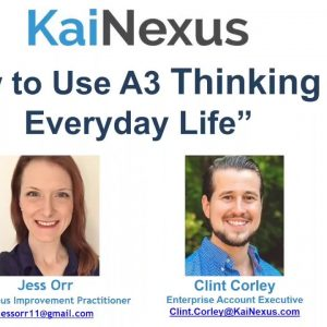 How to Use A3 Thinking in Everyday Life (Webinar)