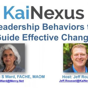 Leadership Behaviors to Guide Effective Change