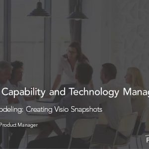 Planview Enterprise One r15 - Visio Based Modeling Creating Visio Snapshots