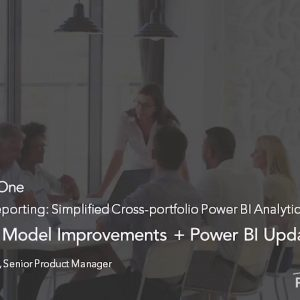 Planview Enterprise One r16 - Simplified Cross portfolio Power BI Analytics