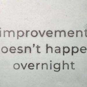 One Improvement at a Time