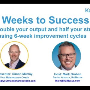 Six Weeks to Success: How to double output and half stress by using 6-week improvement cycles
