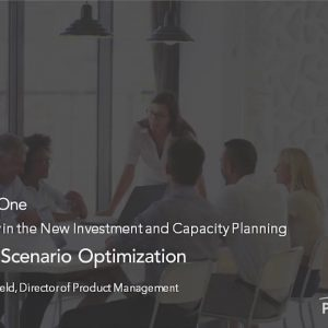 Planview Enterprise One r16 - Automated Scenario Optimization