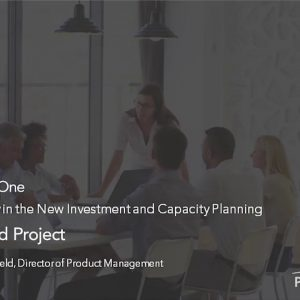 Planview Enterprise One r16 - Program and Project