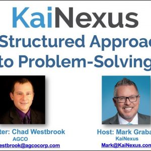Webinar: A Structured Approach to Problem Solving v2