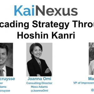 Webinar: Cascading Strategy Through Hoshin Kanri (Strategy Deployment)