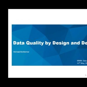 Webinar - Data Quality by Design and by Default   Model GDPR Concepts for Data Protection