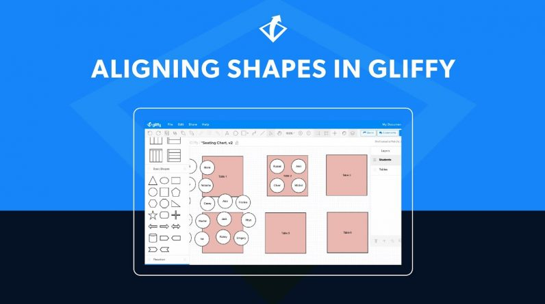 Align and Distribute Shapes in Gliffy