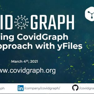 Exploring CovidGraph with yFiles (Guest webinar at CovidGraph.org)