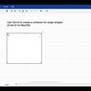 Shortcut - Group shapes and create container shapes in draw.io for Atlassian Confluence