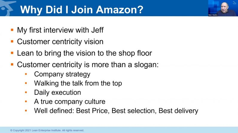 Webinar: A Spotlight on Lean Leaders: Lean at Amazon, Reconciling Lean and Hi-Tech