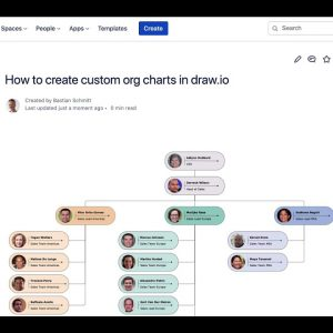 Create custom org charts and shapes in draw.io for Confluence Cloud