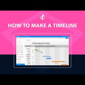 How to Make a Timeline | Easy Timeline Tutorial in Gliffy