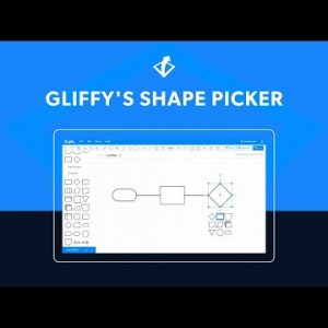 Flowcharting with Gliffy's Shape Picker | New Gliffy Feature Summer 2021