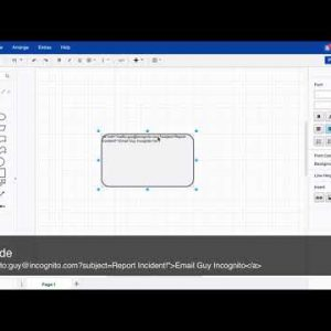 Add email address and subject line to draw.io shapes
