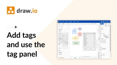 Add tags to your diagram in draw.io for Confluence