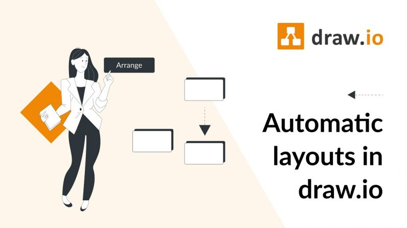 How to use automatic layouts in draw.io for Confluence