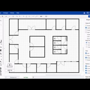 Use background page to create a floorplan in draw.io for Confluence